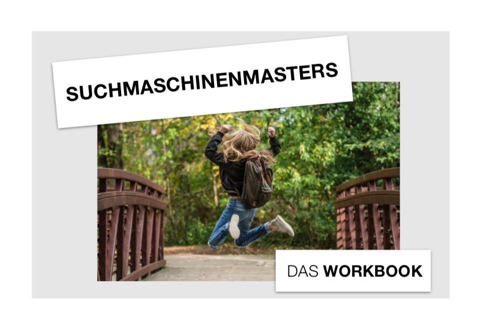 Deckblatt Workbook Suchmaschinenmasters